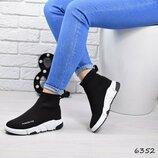 Кроссовки, кеды, мокасины черные в стиле Balenciaga