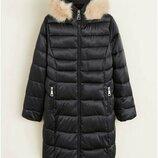 Непромокаемая куртка Mango р. XS, S оригинал,длинная зимняя