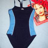 купальник сдельный темно-синий спортивный в бассейн размер 42 / 8 слитный сплошной сдельный спорт