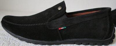 Massimo Dutti Мужские замшевые черные мокасины комфортная обувь
