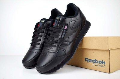 Кроссовки мужские Reebok Classic черные кожа