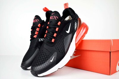 Кроссовки Nike Air Max 270 черные с красным