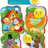 Беби пазлы VT1106-62,пазлы для малышей Колобок 4 картинки