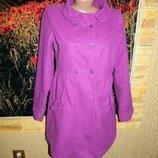 Пальто женское фиолетовое H&M р. 44-46.
