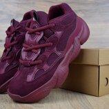 Кроссовки женские Adidas Yeezy 500 burgundy