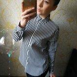 Шикарная блузка рубашка в полоску