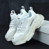Кроссовки Balenciaga Triple S White многослойная подошва