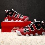 Красные мужские кроссовки nike air more uptempo