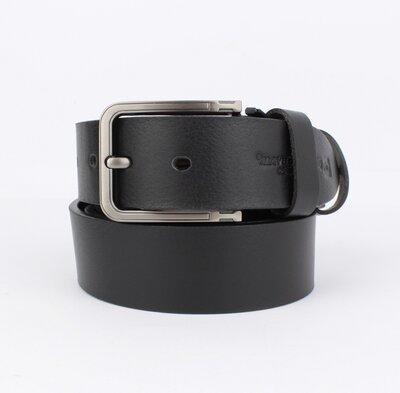 Кожаный ремень под джинсы maybik 15012 черный 40 мм с коробочкой