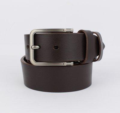 Кожаный ремень под джинсы maybik 15015 кофе 40 мм с коробочкой