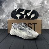 Мужские серебристые кроссовки adidas yeezy 700 V2 Static