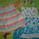 Легусенькое платье и яркая майка