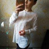 Шикарная блузка с золотыми ромбиками