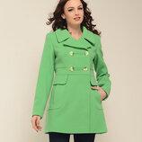 Демисезонное пальто BABY-DOLL синее, красное, бежевое, горчичное, салатовое