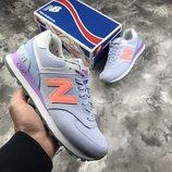 Женские фиолетовые кроссовки оригинал new balance 574
