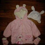 нежно-розовая куртка Baby shuggles на 6-9 мес