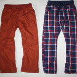 Фирменные утепленные штаны с подкладкой