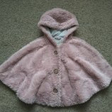 Пончо , куртка - меховушка Next размер 104-110 в отличном состоянии