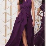 Платье нарядное длинное костюмка барби ягодный