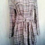 Платье-Рубаха котоновое , миди.