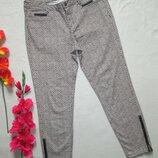 Брендовые суперовые стрейчевые брюки принт абстракция Zara Denim оригинал.