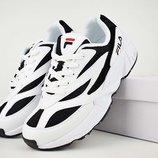 Кроссовки женские Fila Venom white/black