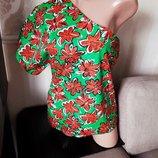 Размер 10 Супер яркая фирменная хлопковая блузка