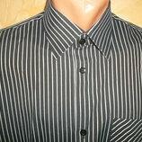 Рубашка с длинным рукавом на рост 180 см. полоска