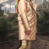 Пальто Ткань стеганая плащовка на синтепон 100 Подкладка стеганая на синтепон 80 Внутри два рабочи