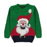 Санта свитер джемпер рождество Новый год 9-10 лет с шапкой