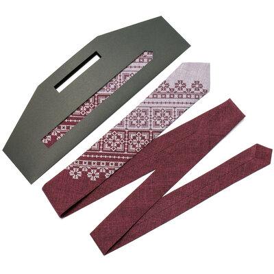 Вузька вишита краватка