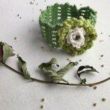 Повязка на голову с цветком обруч заколка нежная нарядная в наличии на праздник лето фотосессия