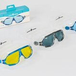 Очки для плавания MadWave 046301 очки полумаска поликарбонат, силикон 3 цветов