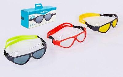 Очки для плавания MadWave 046102 очки полумаска поликарбонат, силикон 3 цветов