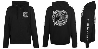 Кофта толстовка худи Tapout Mens Оригинал Чёрный цвет на молнии капюшон