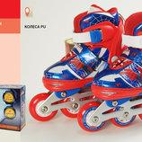 Ролики RS0109 размер S 31-34 металлическая рама, клипса, шнурок, свет 1 колеса PU