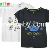Детская футболка Lupilu на девочку 4-6 лет, рост 110/116 набор из 2 шт