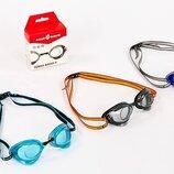 Очки для плавания стартовые MadWave Turbo 045808 поликарбонат, силикон 3 цвета