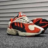 Красные мужские кроссовки adidas yung 1 все размеры в наличии