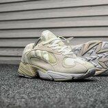 Бежевые мужские кроссовки adidas yung 1 все размеры в наличии