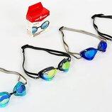 Очки для плавания стартовые MadWave Rainbow 045806 поликарбонат, силикон 3 цвета