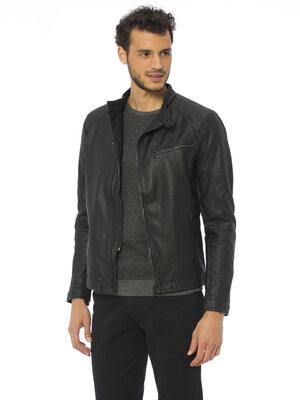 Куртка мужская, демисезонная кожаная, новая,M, XL, XXL, 48, 50, 52, 54