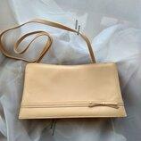 Кожаная сумка клатч бренда Jacques Vert Англия