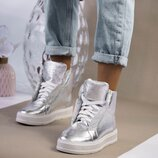 Женские ботинки, натур. кожа, деми