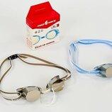 Очки для плавания стартовые MadWave Raser 045502 поликарбонат, силикон 2 цвета