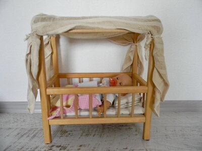 деревянная кроватка кукла Corolle подарок