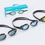 Очки для плавания стартовые MadWave Shark 043107 поликарбонат, силикон 3 цвета