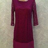 F&F Роскошное кружевное платье цвет маджента, р.6, европ.34, XS