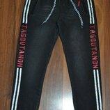 Чёрные джинсы джоггеры для парней размеры 8,10,12,16
