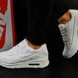 женские кроссовки Nike Air Max пресс.кожа черные и белые 36-40р
